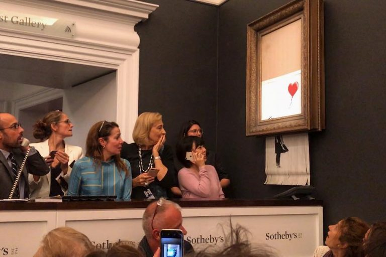 Banksy Painting - Who Knew It Was 'Self Destruct'?