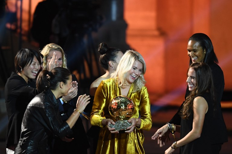 Ballon d'Or co-host apologises over 'twerk' comment to women's winner Hegerberg