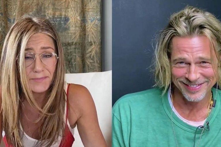 Brad Pitt Jennifer Anniston reunite